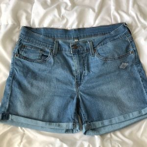 Levi's Medium Wash Cuffed Denim Shorts
